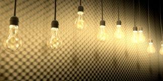 Free Light Bulbs Against Acoustic Foam Royalty Free Stock Photos - 31431528