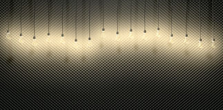 Light Bulbs Against Acoustic Foam Stock Image