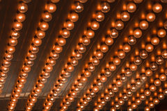 Light bulbs array Stock Photo