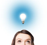Light bulbs as conceptual symbo Royalty Free Stock Image