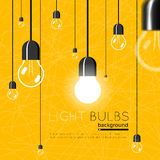 Light bulbs background. Idea concept Royalty Free Stock Photo