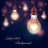 Light Bulbs Background Stock Images