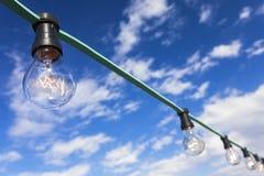 Light Bulbs and Blue Sky Stock Photo