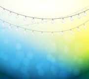 Light bulbs and bokeh illustration design Royalty Free Stock Photography