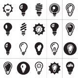 Light Bulbs. Bulb Icon Set Stock Image