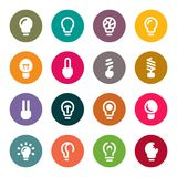 Light bulbs. Bulb icon set Stock Photography