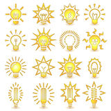 Light bulbs. Bulb icon set Stock Photography