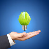 light bulbs on Business hand Stock Photos