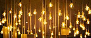 Light bulbs for ceiling decoration Royalty Free Stock Photography