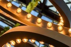 Light Bulbs On Ceiling Stock Photo