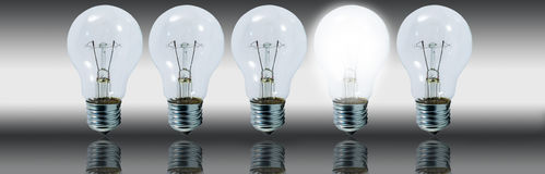 Light bulbs concept idea Royalty Free Stock Images