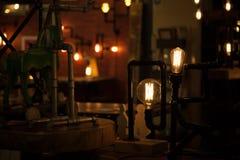 Light bulbs. On dark background Royalty Free Stock Image