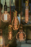 Light bulbs decoration (Front focus) Royalty Free Stock Photos