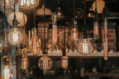 Light bulbs decoration (Front focus) Royalty Free Stock Photography