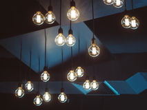 Light bulbs decoration Interior object Stock Image