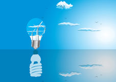 Light bulbs ecology concept Royalty Free Stock Photos