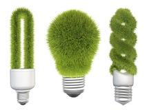 Light bulbs with grass Stock Photo