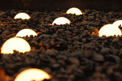 Light bulbs on the ground Royalty Free Stock Photo