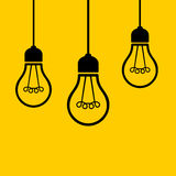 Light Bulbs Hanging from the Ceiling. Vector Stock Photo