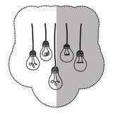 light bulbs hanging icon Royalty Free Stock Photos