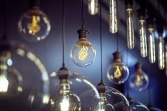 Light bulbs hanging royalty free stock photo