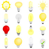 Light bulbs icons, isometric 3d style Royalty Free Stock Image