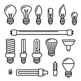 Light bulbs icons set of different kind of light bulbs. vector illustration