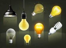 Light bulbs icons Royalty Free Stock Photography