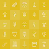 Light bulbs icons set Stock Photos