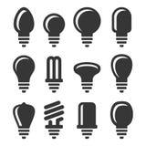 Light Bulbs Icons Set on White Background. Vector vector illustration