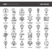 Light bulbs icons Royalty Free Stock Photo
