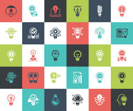 Light bulbs icons Stock Photography