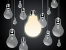 Light bulbs with Idea Conzept Stock Image