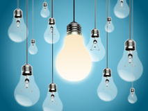 Light bulbs with Idea Conzept Stock Photo