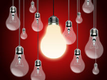 Light bulbs with Idea Conzept Royalty Free Stock Images