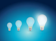Light bulbs idea graph illustration design Royalty Free Stock Photography