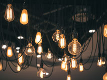 Light Bulbs Interior decoration Vintage style Stock Photos