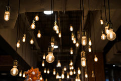 Light bulbs interior Royalty Free Stock Photography