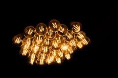 Light bulbs. Light bulbs isolated on black Royalty Free Stock Images