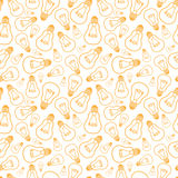 Light bulbs line art seamless pattern background Royalty Free Stock Photography