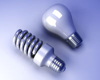 Light bulbs - Old and new Royalty Free Stock Images