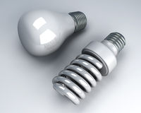 Light bulbs - Old and new Royalty Free Stock Photography