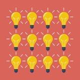 Light Bulbs Pattern Flat Style Royalty Free Stock Image