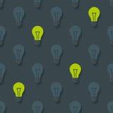 Light bulbs pattern Royalty Free Stock Photos