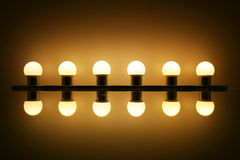 Light Bulbs with reflection Royalty Free Stock Image
