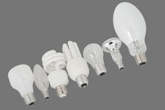 Light bulbs row Royalty Free Stock Images