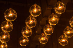 Light bulbs in a row Royalty Free Stock Images