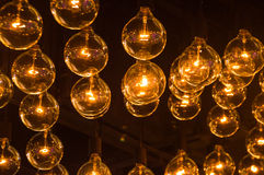 Light bulbs in a row Royalty Free Stock Photography