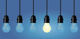 Light bulbs in a row Stock Image