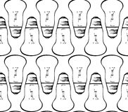 Light bulbs seamless Stock Photos